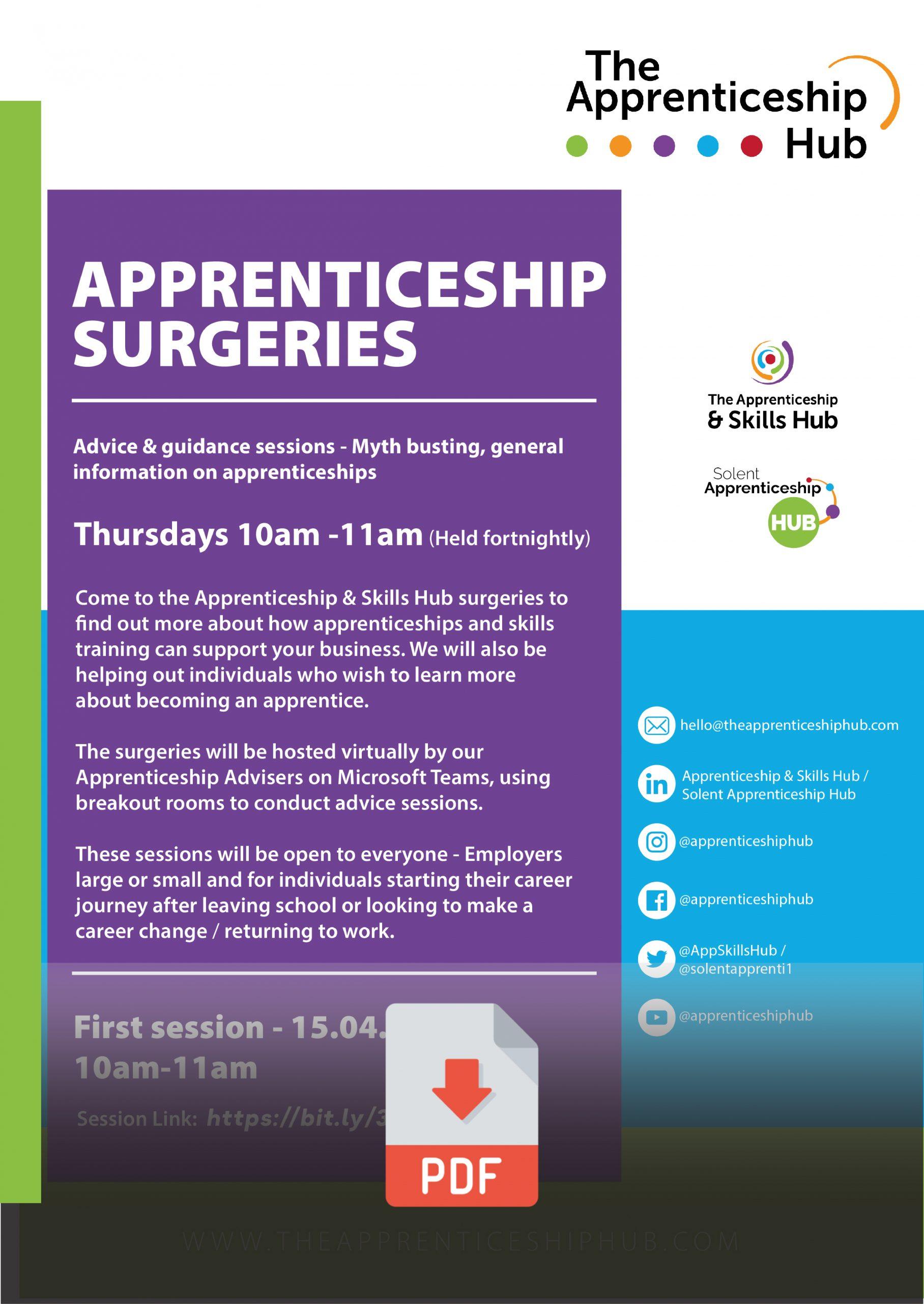 Apprenticeship Surgeries - The Apprenticeship Hub