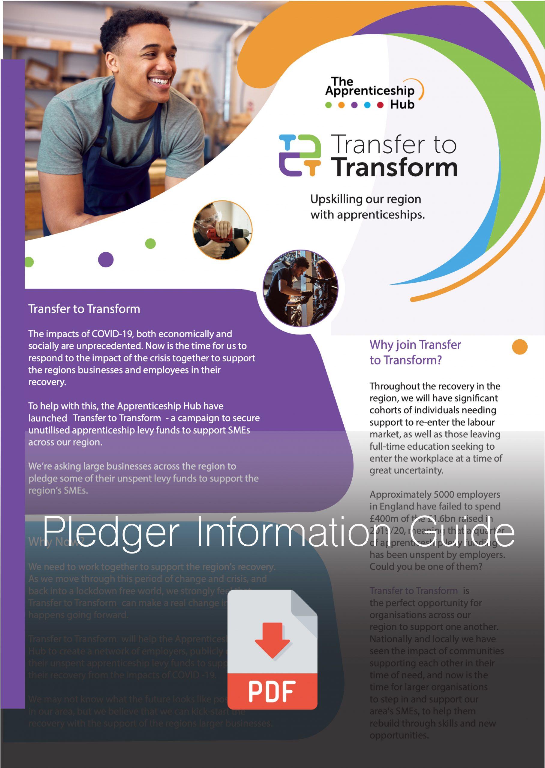 Pledger Transfer to Transform Guide