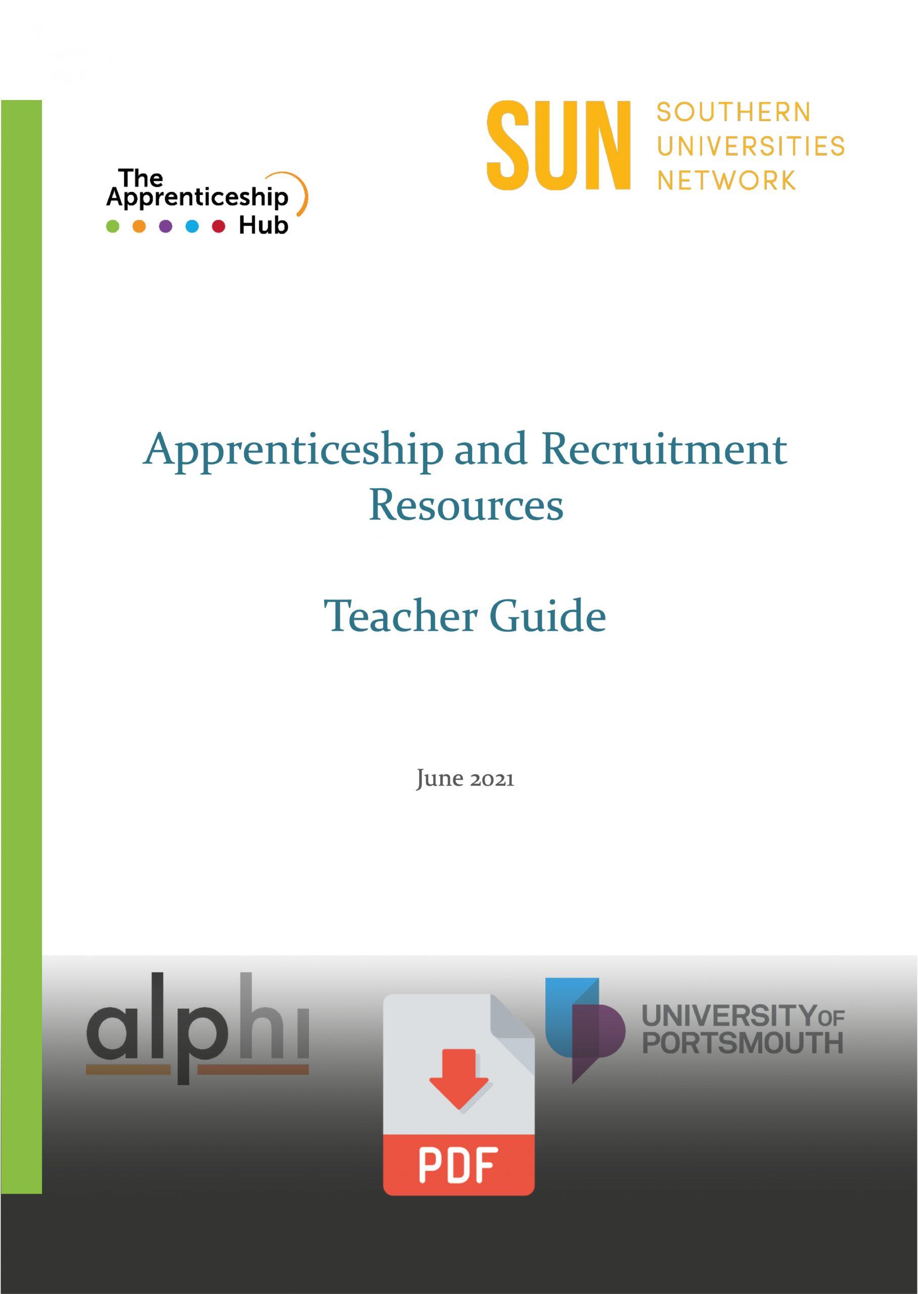Apprenticeships Teacher Guide